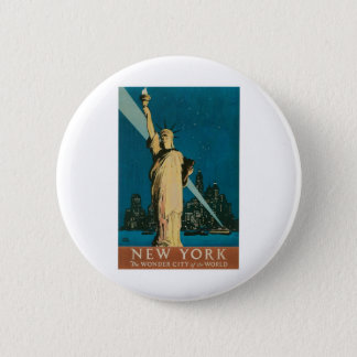 New York: The Wonder City of the World Poster 6 Cm Round Badge