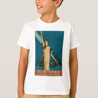 New York: The Wonder City of the World Poster T-Shirt