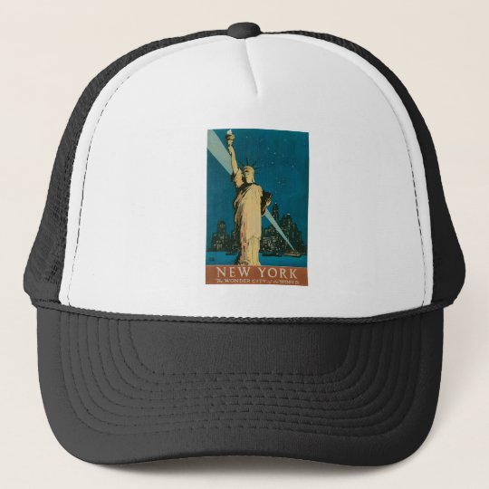 New York: The Wonder City of the World Poster Trucker Hat
