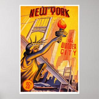 New York ( The Wonder City ) Poster