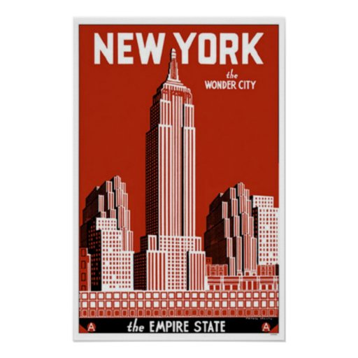 new york the wonder city poster zazzle. Black Bedroom Furniture Sets. Home Design Ideas