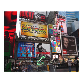 New York Times Square Billboards Flyer Design