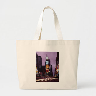 New York Times Square traffic at night Tote Bag