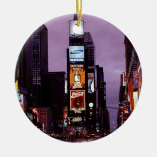 New York Times Square traffic at night Christmas Ornament