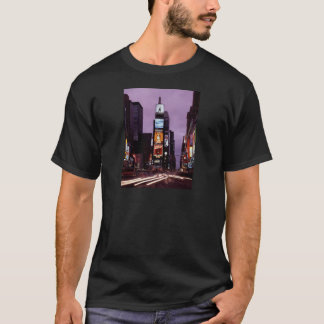 New York Times Square traffic at night T-Shirt