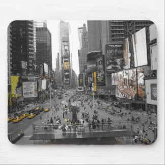 New York Times Square Vintage Black and Yellow Mouse Mat