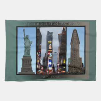 New York Towel Personalized NYC Landmark Tea Towel