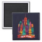 New York - Travel to the famous Landmarks Magnet