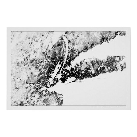 New York Tri-State Census Dotmap Poster
