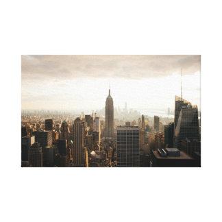 New York under a cloud Canvas Print