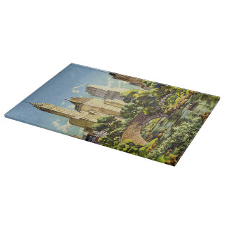 New York United Air Lines Vintage Poster Halftone Cutting Board