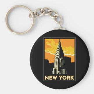 new york united states usa vintage retro travel key ring