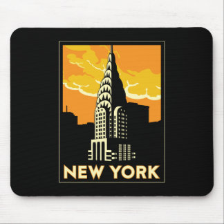 new york united states usa vintage retro travel mouse mat