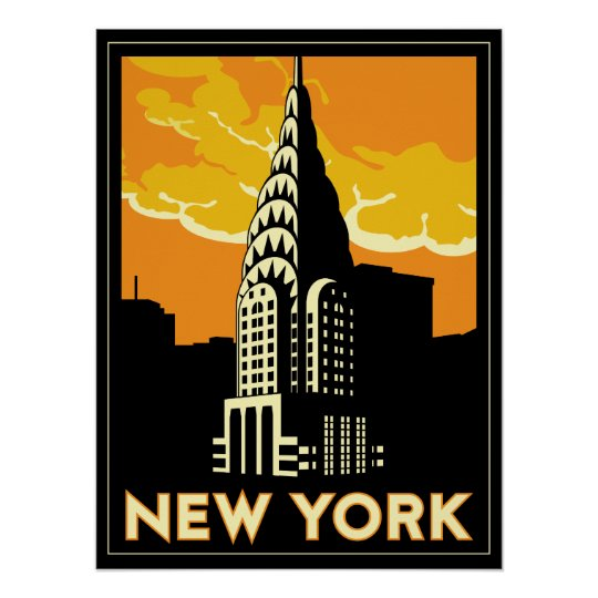 new york united states usa vintage retro travel