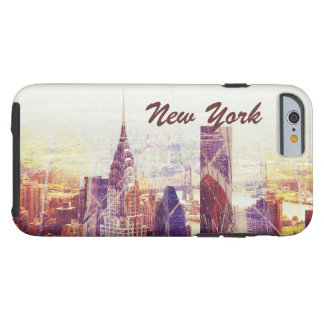 New York uptown Skyline, NYC Tough iPhone 6 Case