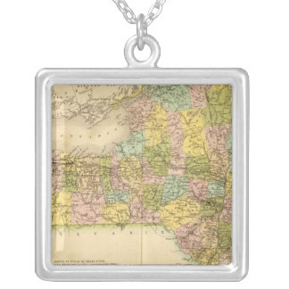 New York, US Silver Plated Necklace
