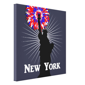 New York USA American Patriotic Statue Of Liberty Canvas Print