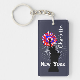 New York USA American Patriotic Statue Of Liberty Key Ring