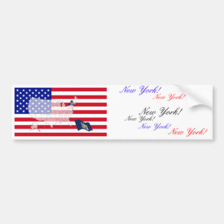 New York, USA Bumper Sticker