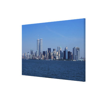 New York, USA. Skyline of downtown Manhattan Canvas Print