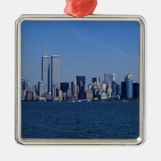 New York, USA. Skyline of downtown Manhattan Christmas Ornament
