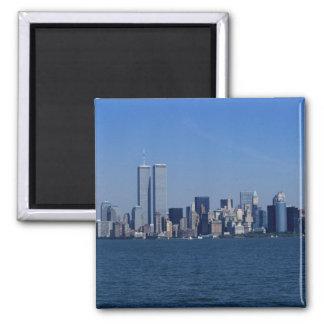 New York, USA. Skyline of downtown Manhattan Magnet