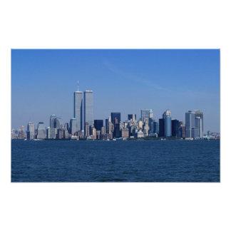 New York, USA. Skyline of downtown Manhattan Photographic Print