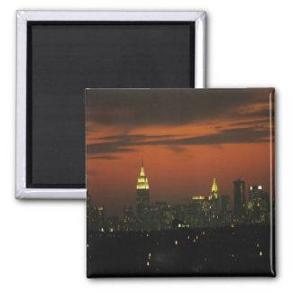 New York, USA. Skyline of uptown Manhattan 2 Magnet