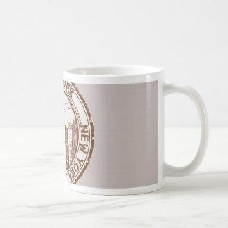 New York, USA Travel Stamp Basic White Mug