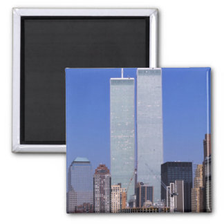New York, USA. Twin towers of the famous World Magnet