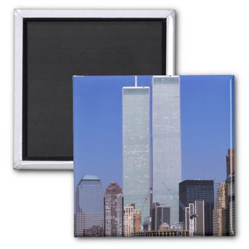 New York, USA. Twin towers of the famous World Fridge Magnet