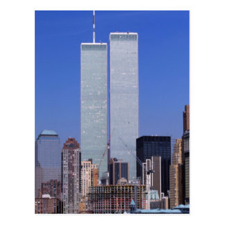 New York, USA. Twin towers of the famous World Postcards
