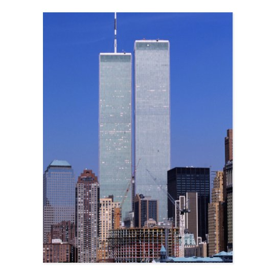 New York, USA. Twin towers of the famous