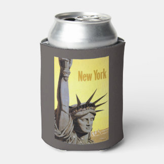 New York USA Vintage Travel can cooler