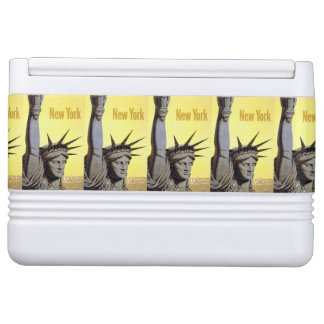 New York USA Vintage Travel cooler Igloo Cool Box