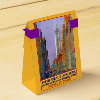 New York USA Vintage Travel favor box