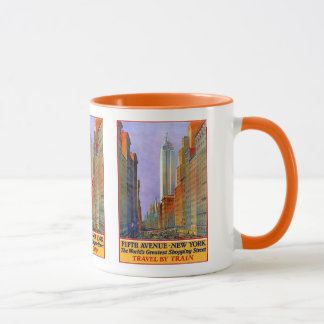 New York USA Vintage Travel mugs