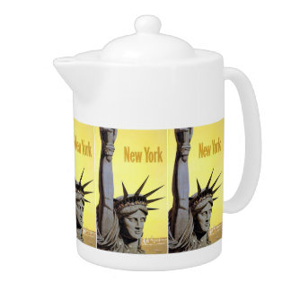 New York USA Vintage Travel teapot