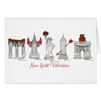 New York Valentine Greeting Card