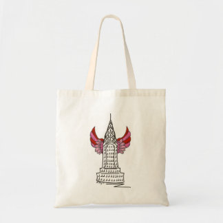 New York Valentine NYC Cupid Wings Skyscraper Tote
