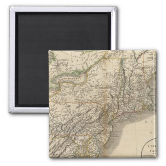 New York, Vermont, New Hampshire, etc Square Magnet