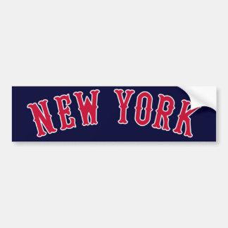 New York Versus Boston Rivals Bumper Sticker