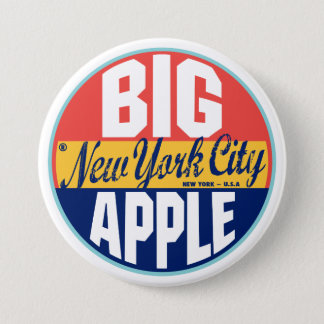 New York Vintage Label 7.5 Cm Round Badge