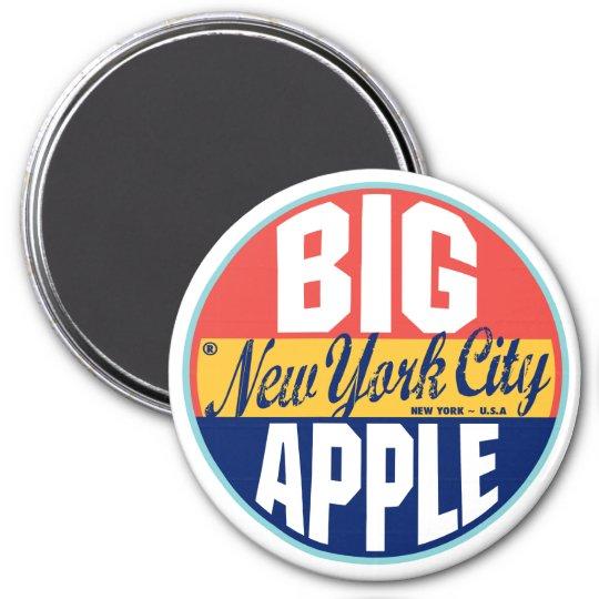 New York Vintage Label 7.5 Cm Round Magnet