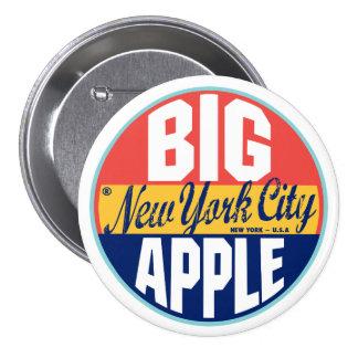 New York Vintage Label Button