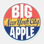 New York Vintage Label Round Sticker
