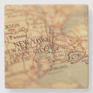 NEW YORK Vintage Map Stone Coaster