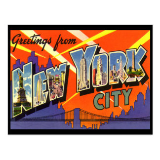New york vintage postcard