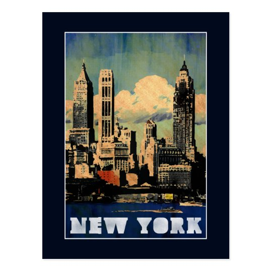 New York - Vintage style travel postcard