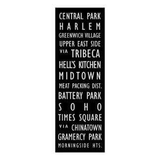 New York Vintage Transit Scroll 1 Poster